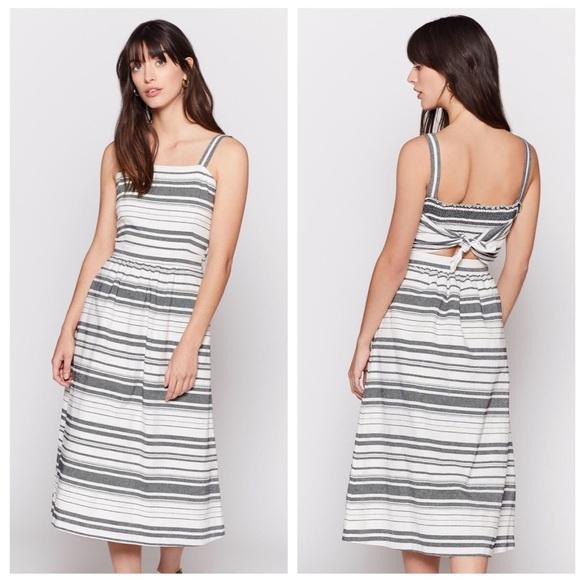 7e0e59189860 Joie Dresses   Cabeza Striped Cotton Tie Back Midi Dress   Poshmark